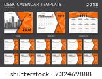 desk calendar 2018 template.... | Shutterstock .eps vector #732469888