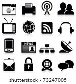 communication icons | Shutterstock .eps vector #73247005
