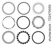 different round frames | Shutterstock .eps vector #732470050