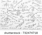 advanced calculus on whiteboard    Shutterstock . vector #732474718