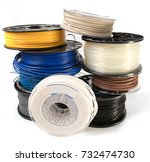filament for 3d printing | Shutterstock . vector #732474730