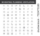hvac  heating  air conditioning ... | Shutterstock .eps vector #732475180