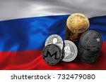 stack of bitcoin  ethereum ... | Shutterstock . vector #732479080