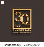 30 years anniversary...   Shutterstock .eps vector #732480070