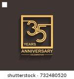35 years anniversary... | Shutterstock .eps vector #732480520