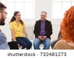 meeting of support group. man... | Shutterstock . vector #732481273