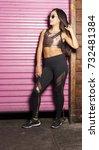 women portrait downtown | Shutterstock . vector #732481384