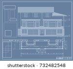author's design of residential... | Shutterstock .eps vector #732482548