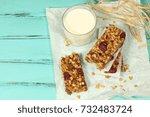 homemade cereal snacks for... | Shutterstock . vector #732483724