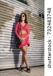 women portrait downtown | Shutterstock . vector #732483748