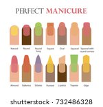 nail forms. female manicure.... | Shutterstock .eps vector #732486328