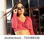 women portrait downtown | Shutterstock . vector #732488338