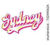 hand written lettering city... | Shutterstock .eps vector #732490624