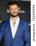 Small photo of Chris Hemsworth at the World premiere of 'Thor: Ragnarok' held at the El Capitan Theatre in Hollywood, USA on October 10, 2017.