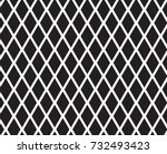 diamond shape with mesh pattern. | Shutterstock .eps vector #732493423