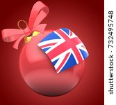 3d illustration of christmass...   Shutterstock . vector #732495748