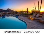 arizona resort with pool | Shutterstock . vector #732499720