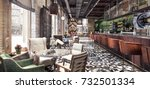 concept design of modern... | Shutterstock . vector #732501334