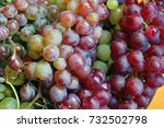 red and white grapes | Shutterstock . vector #732502798