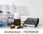 medicine boxes with pills