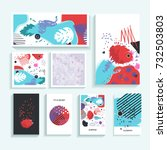 collection of creative... | Shutterstock .eps vector #732503803