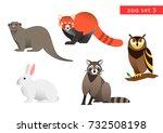 zoo animals vector logo icon... | Shutterstock .eps vector #732508198