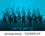 let's party concept. set of... | Shutterstock . vector #732509119