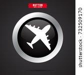 aeroplane icon. transport sign