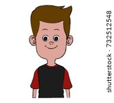 cute and funny boy cartoon | Shutterstock .eps vector #732512548