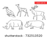 zoo animals vector logo icon... | Shutterstock .eps vector #732513520