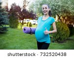 sports for moms. beautiful... | Shutterstock . vector #732520438