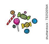 candy vector doodle | Shutterstock .eps vector #732520564