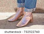 milan   september 20  woman... | Shutterstock . vector #732522760