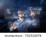 digital composite of young man... | Shutterstock . vector #732523078