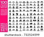 mega set and big group  real... | Shutterstock .eps vector #732524599