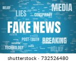 digital composite of fake news... | Shutterstock . vector #732526480