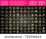 mega set and big group  real... | Shutterstock .eps vector #732530614