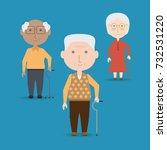 grandparents cartoon design | Shutterstock .eps vector #732531220