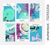 hand drawn creative universal... | Shutterstock .eps vector #732531316