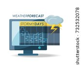 weather and climate design   Shutterstock .eps vector #732532078