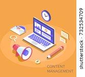 content management system... | Shutterstock .eps vector #732534709