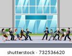 a vector illustration of... | Shutterstock .eps vector #732536620