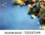 holiday christmas background  | Shutterstock . vector #732537199