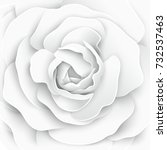 paper flower. paper rose. white ... | Shutterstock .eps vector #732537463