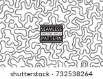 seamless cow skin fashion... | Shutterstock .eps vector #732538264