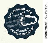 rock climbing club badge.... | Shutterstock .eps vector #732540514