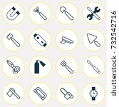tools icons set. collection of... | Shutterstock .eps vector #732542716