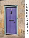 Purple Old Front Door