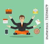 human resource and self... | Shutterstock .eps vector #732546079