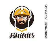 builder  constructor logo.... | Shutterstock .eps vector #732546634